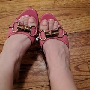 Gucci Authentic Horsebit Pink kitten heels
